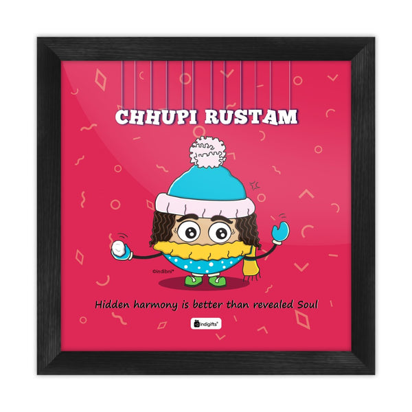 Chhupi Rustam - Hidden harmony is better than revealed soul Pink Poster Frame