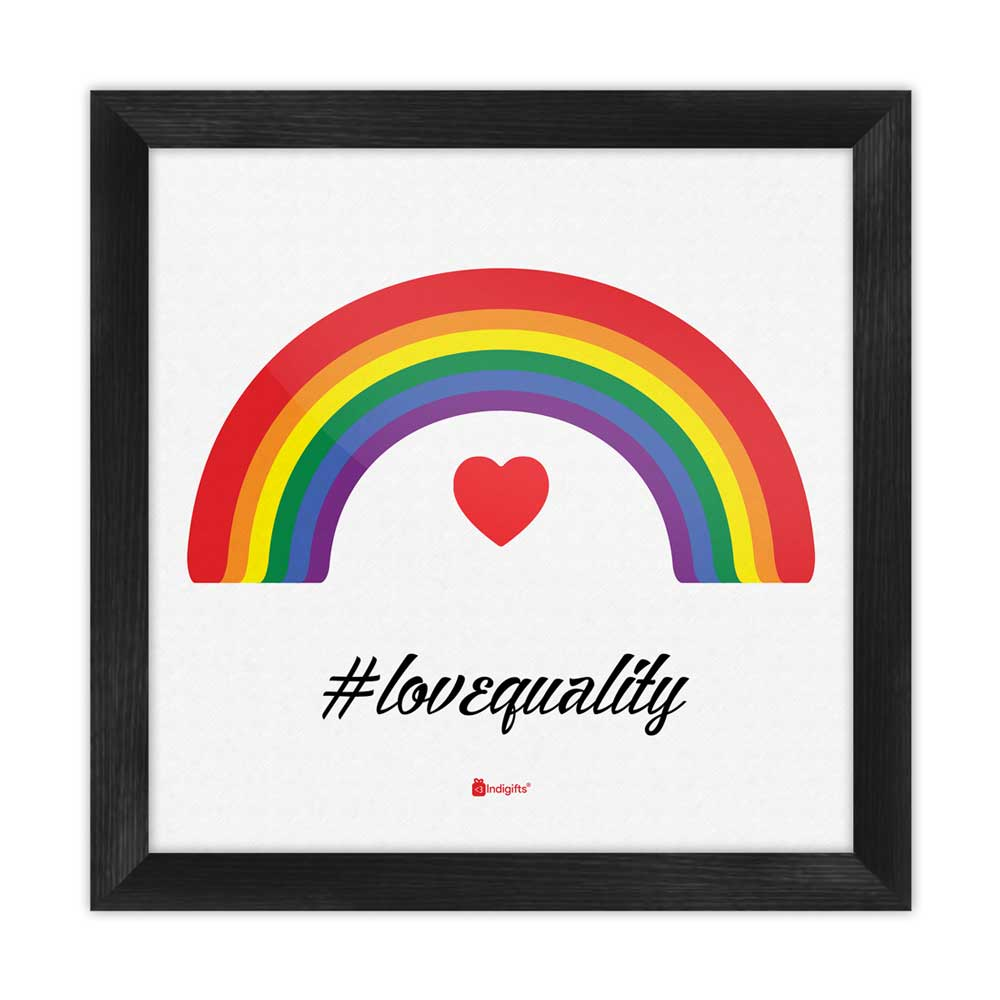Love Equality Quote Symbolic Colourful Expression White Poster Frame