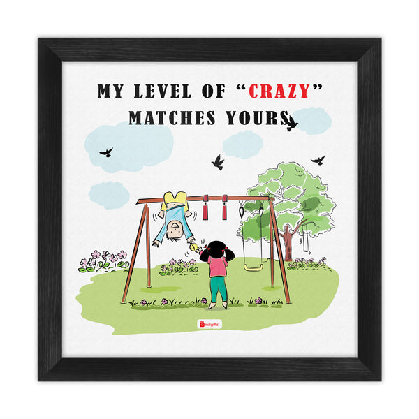 Crazy Brother Hanging Upside Down Multi Poster Frame