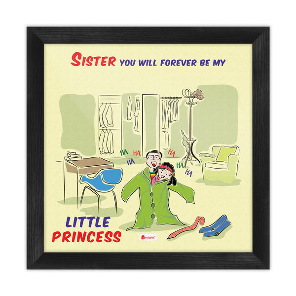 Little Sister Wearing Big Brother Clothes Multi Poster Frame