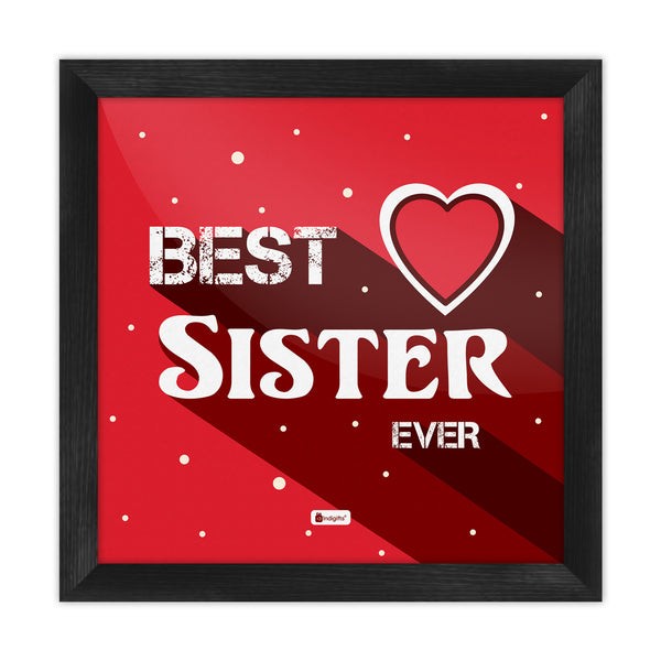 Indigifts Bold Typographic Artwork Red Poster Frame