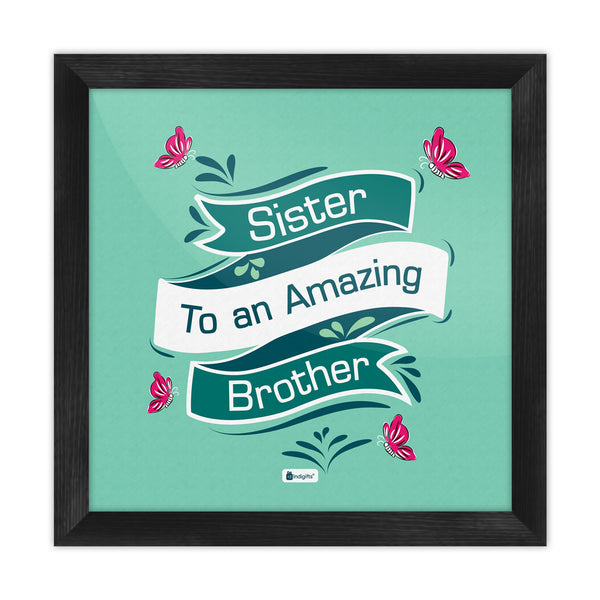 Indigifts Decorative Ribbon Illustration Green Poster Frame