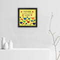 Ethnic Floral Design with Daddy's Moustache Print Multi Poster Frame