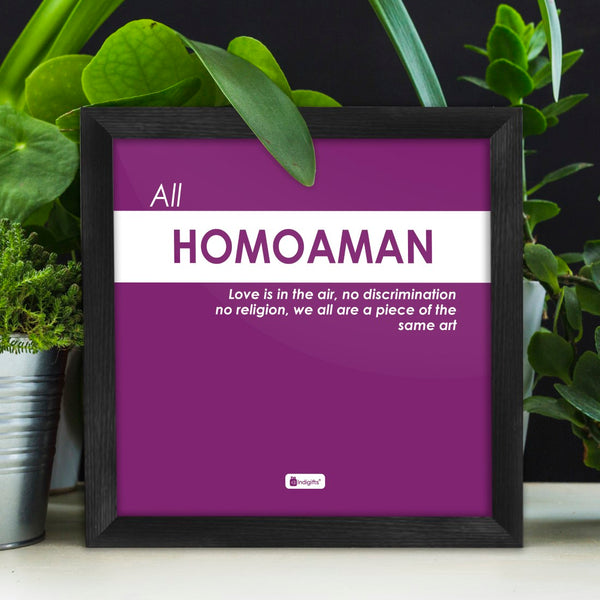 Funny Wall Quotes for Home and Office Décor | Purple Poster Frame | Funky Quotes Printed Wall Posters, Unique Gift Idea for Friends, Poster Framed for Wall