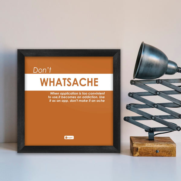 Funny Wall Posters | Brown Poster Frame | Quirky Humour Poster Wall Frame for Office & Home Décor, Quotes Printed Poster with Frame