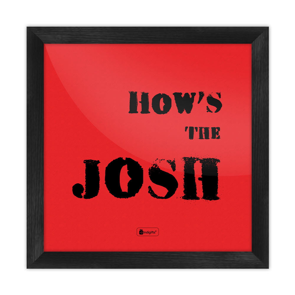 How's the Josh Red Cushion Cover