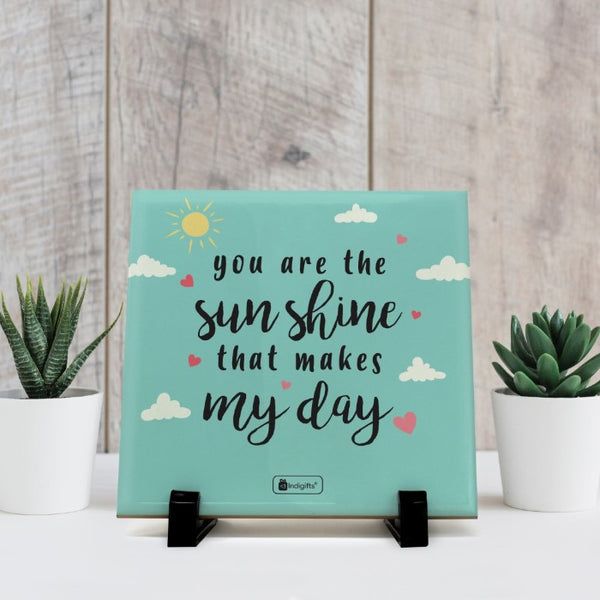 Indigifts Valentine Gift For Boyfriend You are the Sunshine Printed Blue Love Gifts