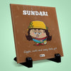 Sundari Printed Table Décor Ceramic Tile 6x6 Inches