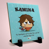 Kamina Printed Table Décor Ceramic Tile 6x6 Inches