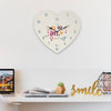 Indigifts Valentine Special Gifts for Couple Printed Pink Heart Shape Wall Clock
