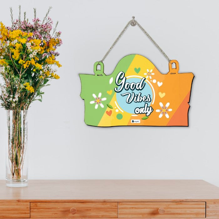 Indigifts Good Vibes Only Multicolor Wall Hanging