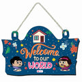 Welcome to Our World Blue Wall Hanging