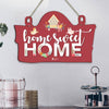 Home Sweet Home Printed Wooden Wall Hanging