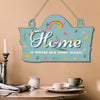 Home is Where Our Story Starts Printed Wooden Wall Hanging