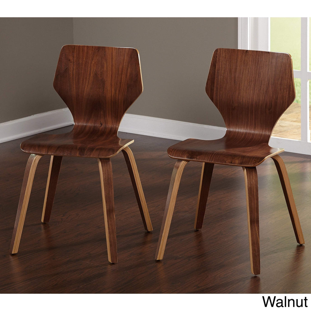 [color] angelo:HOME Dining Chairs - Bari Bentwood set of 2 (walnut) [variant]