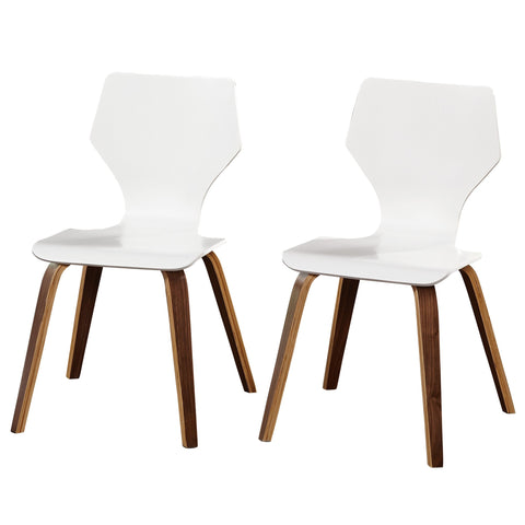 [color] angelo:HOME Dining Chairs - Bari Bentwood set of 2 (white) [variant]