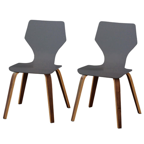 [color] angelo:HOME Dining Chairs - Bari Bentwood set of 2 (grey) [variant]