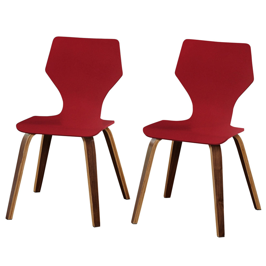 [color] angelo:HOME Dining Chairs - Bari Bentwood set of 2 (red) [variant]