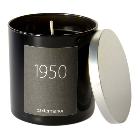 Baxter Manor 1950 #OurHistoryCollection Candle in Black