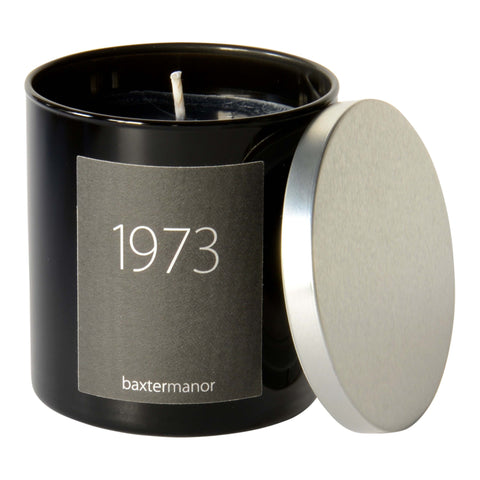1973 #OurHistoryCollection Candle by Baxter Manor in Black