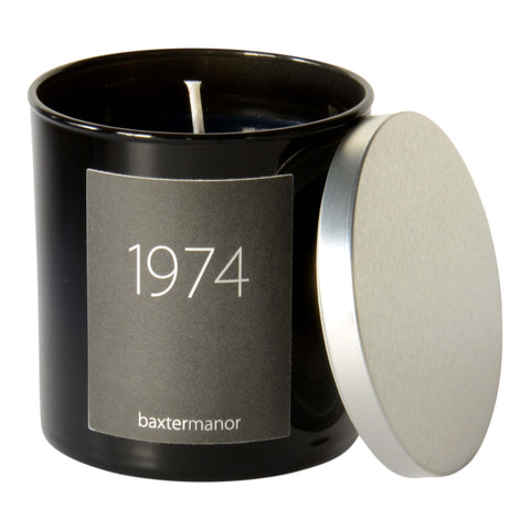 1974 #OurHistoryCollection Candle by Baxter Manor in Black