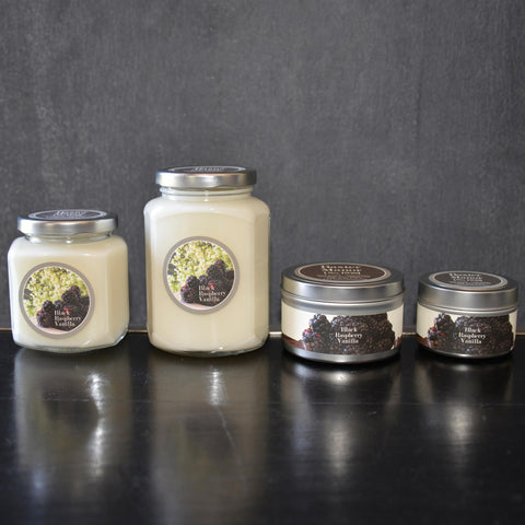 Black Raspberry Vanilla Scented Baxter Manor Candles