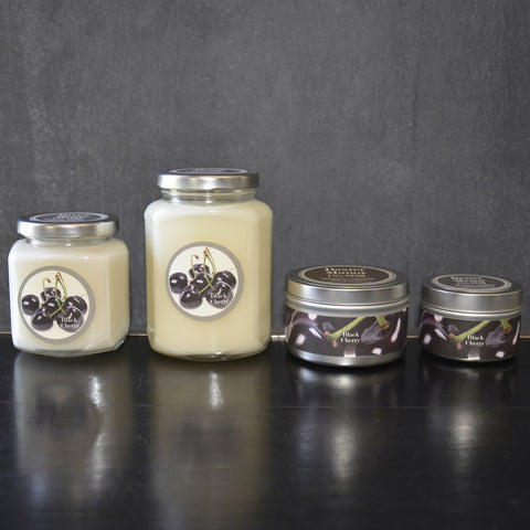 Black Cherry Scented Baxter Manor Candles