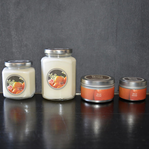Blood Orange Scented Baxter Manor Candles