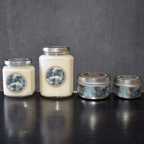 Blue Spruce Scented Baxter Manor Candles