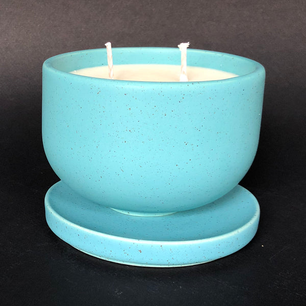 [color] e.baran - Limited Edition Handmade Pottery Candle - Bowl - Lemon Mint [variant]