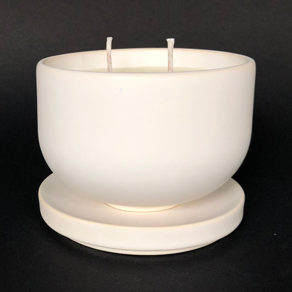 [color] e.baran - Limited Edition Handmade Pottery Candle - Bowl - Evening Tuberose [variant]