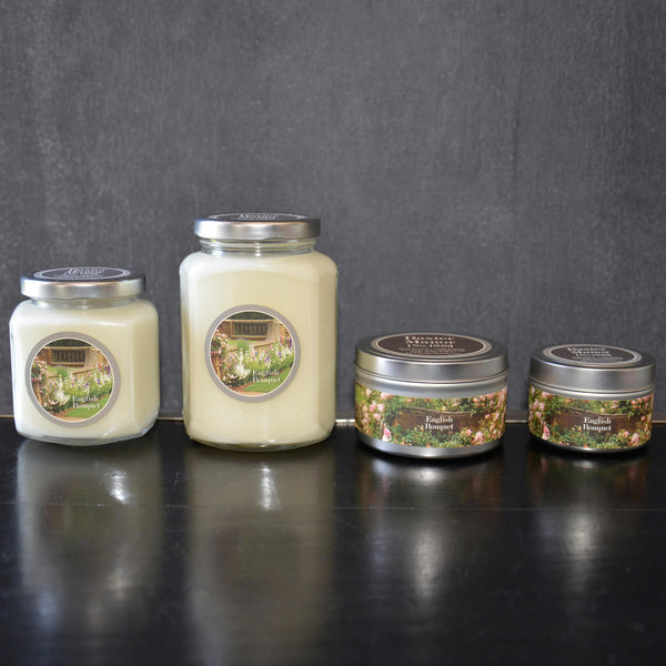 English Bouquet Scented Baxter Manor Candles