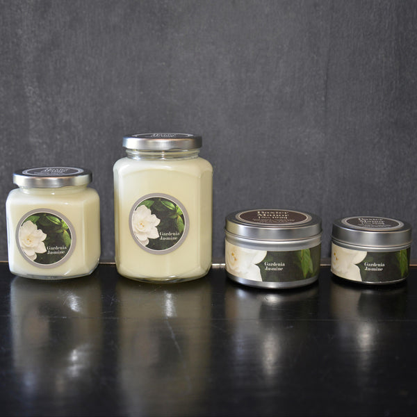 Gardenia and Jasmine Scented Baxter Manor Candles