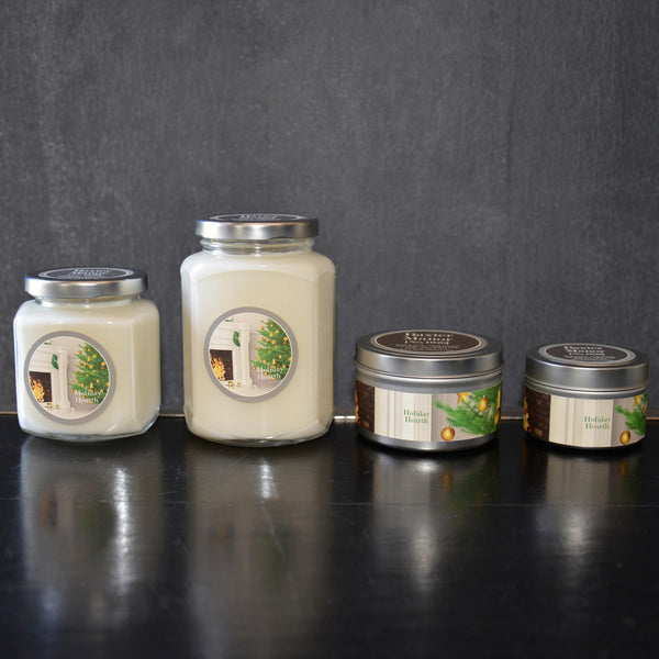 Holiday Hearth Scented Baxter Manor Candles