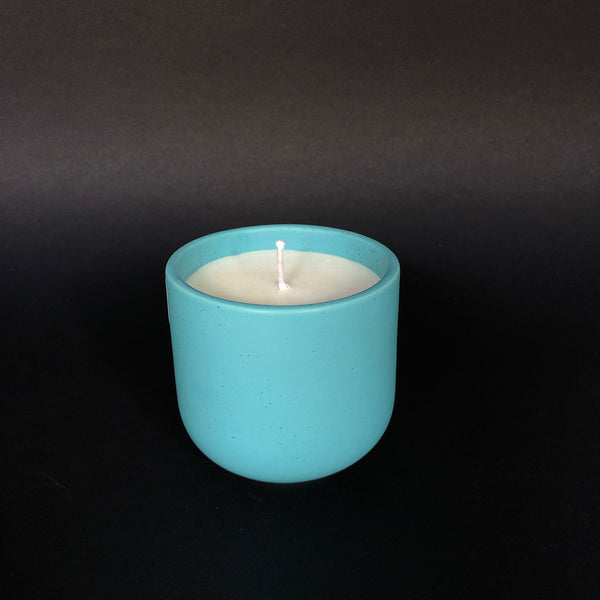 [color] e.baran - Limited Edition Handmade Pottery Candle - Tumbler - Vintage Leather [variant]