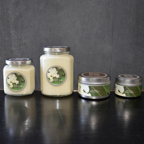 Jasmine and Honeysuckle Scented Baxter Manor Candles