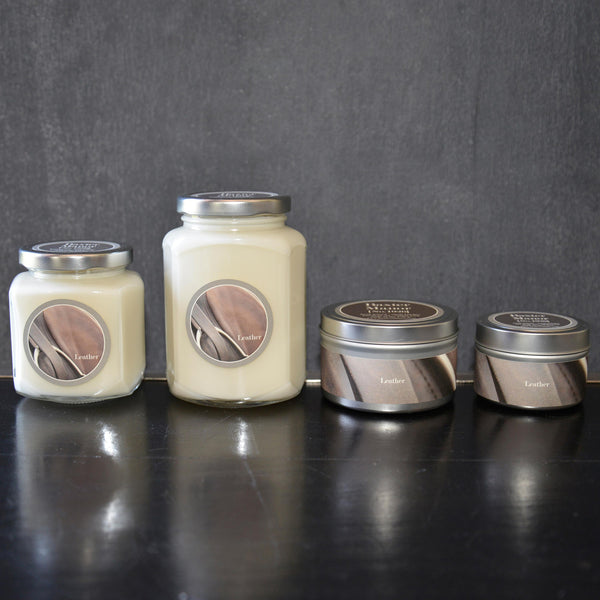 Leather Scented Baxter Manor Candles