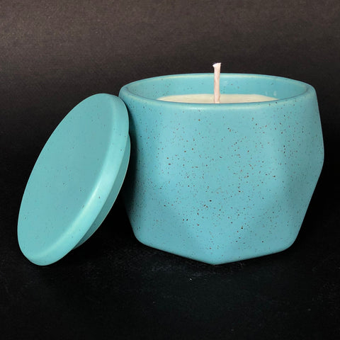 [color] e.baran - Limited Edition Handmade Pottery Candle - Hex Mug - Jasmine Honeysuckle [variant]