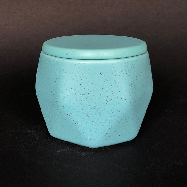 [color] e.baran - Limited Edition Handmade Pottery Candle - Hex Mug - Blue Spruce [variant]