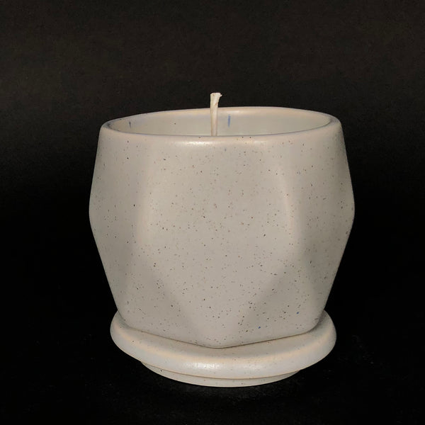 [color] e.baran - Limited Edition Handmade Pottery Candle - Hex Mug - Hawaiian Plumeria [variant]