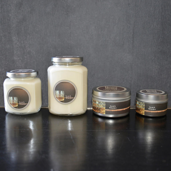Scotch Whiskey Scented Baxter Manor Candles