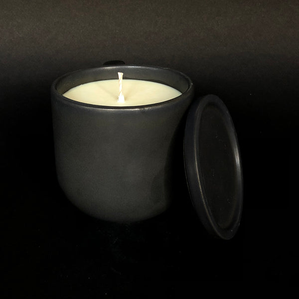 [color] e.baran - Limited Edition Handmade Pottery Candle - Tumbler - Island Breeze Citronella [variant]