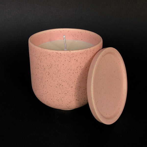 [color] e.baran - Limited Edition Handmade Pottery Candle - Tumbler - Lichen and Amber [variant]