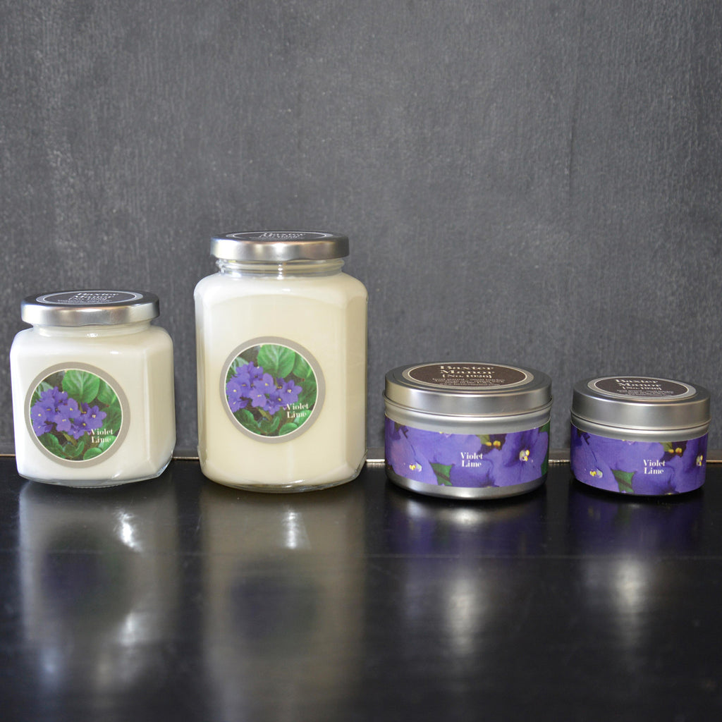 Violet Lime Scented Baxter Manor Candles