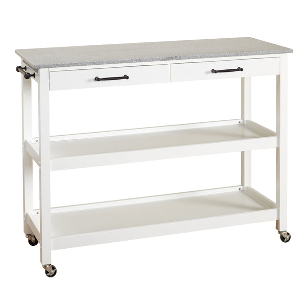 [color] angelo:HOME Kitchen Island/Cart - Arlington (white) [variant]