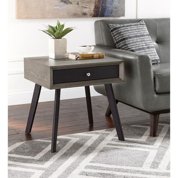[color] angelo:HOME End Table - Maxwell (grey/black) [variant]