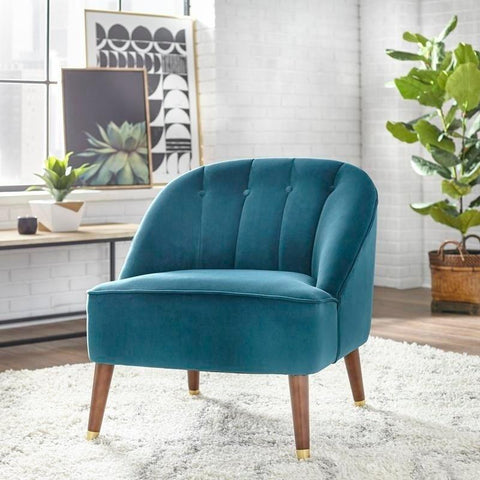 [color] angelo:HOME Armless Chair - Edith (teal) [variant]