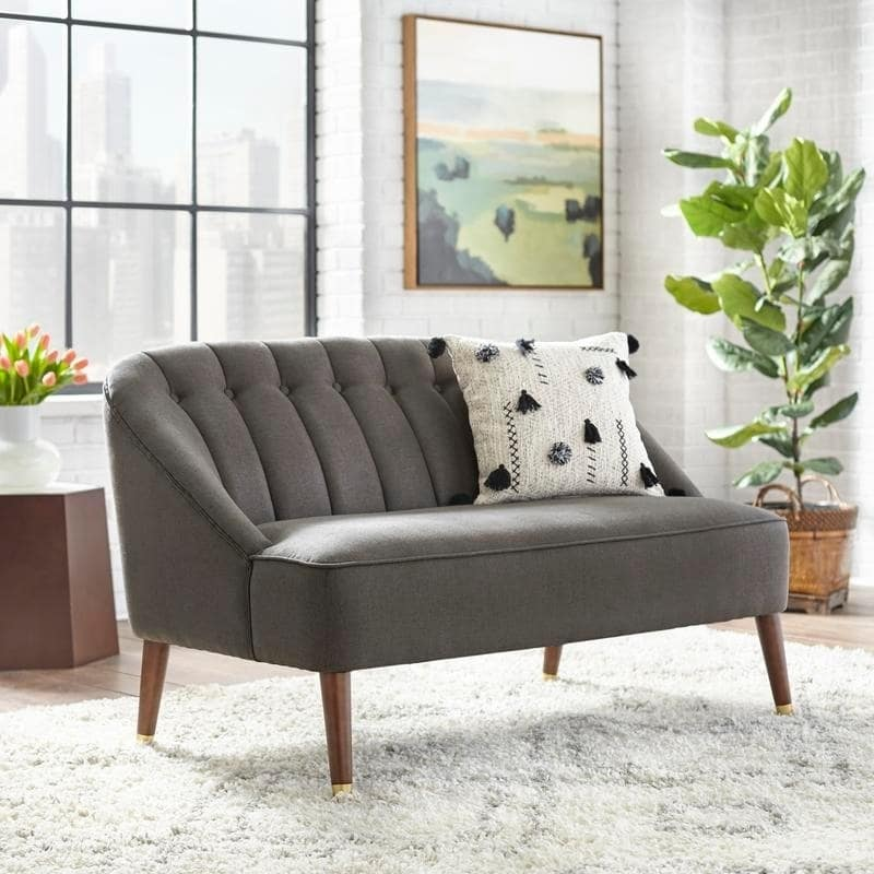 [color] angelo:HOME Loveseat - Edith (grey) [variant]
