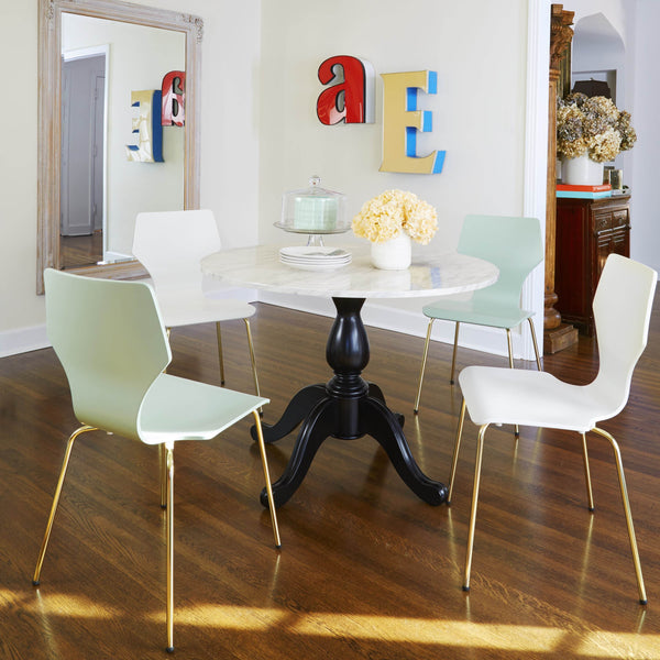 [color] angelo:HOME Dining Chairs - Enna Bentwood/Metal set of 2 (mint) [variant]
