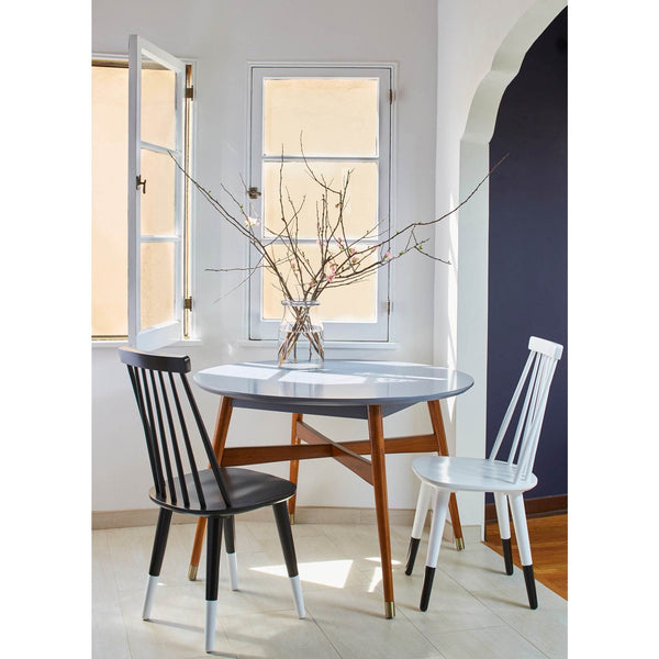 [color] angelo:HOME Dining Chairs - Hermosa set of 2 (white) [variant]